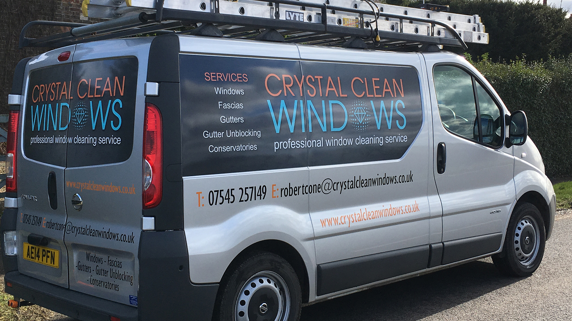 Crystal Clean Windows Van